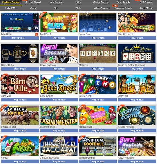 sbobet freature games